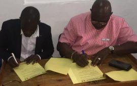 CONAKRY : Signature du protocole d'accord entre l'UPLG et l'UPF