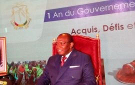 Conakry : Le premier  Ministre Kassory  Fofana sur les acquis de son Gouvernement