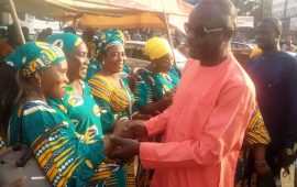 Kaloum : L'association des Femmes ''Dynamiques'' du port Autonome de Conakry soutient le candidat Mohamed Diop