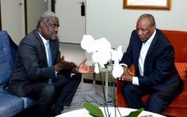 Scrutin présidentiel du 18 Octobre 2020 : Alpha Condé, felicité par le président de l'UA