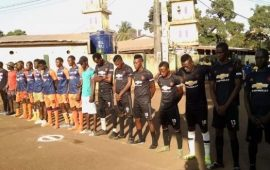 Sport/Football : la finale du tournoi doté du trophée de l'artiste Souleymane Bangoura » Soul Bang's » remportée par le club Espoir Nabé
