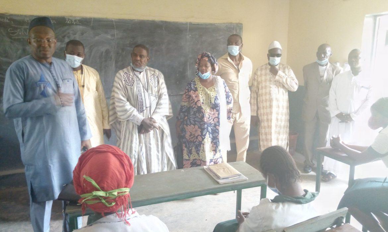 Dubréka :Le président  El Hadj Mohamed Habib Hann avec une forte délégation du bureau du CNP- Guinée  pour remercier les encadreurs de l'Institut Privé de Santé «El Hadj Mohamed Diawara»