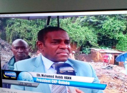 Tragédie survenue à Darsalam: Le président du CNP-Guinée, El Hadj Mohamed Habib Hann rencontre  les familles  et proches des victimes
