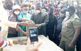 Conakry : Kassory Fofana pose la première pierre des travaux de rénovation du CFP de Matoto