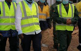 Exploitation industrielle de l'or : une délégation interministérielle conduite par Saadou Nimaga sur le site de la Societe des Mines de Mandiana (SMM) à Loila