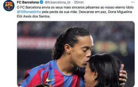 Le FC Barcelone présente ses plus sincères condoléances à Ronaldinho Besoccer21 févr. 2021Sources