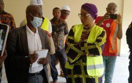 Enseignement Technique : Visite de Mme la ministre sur le chantier de l'ERAM de Dabola