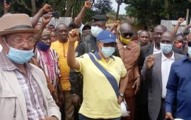 Visite de chantiers à l'intérieur du pays: A Macenta, la délégation de Mme la ministre accueillie en Héro