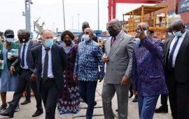 Le président Félix Tshisekedi a bouclé sa visite à Conakry au port conteneurs .