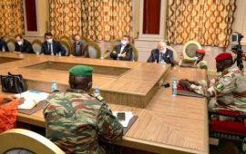 Guinée: Le colonel Mamadi Doumbouya reçoit la délégation de l'UE et les ambassadeurs représentants des pays membres